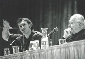 """1991 Sundance Film Festival"" ""Panelist John Sayles and Robert Altman"""